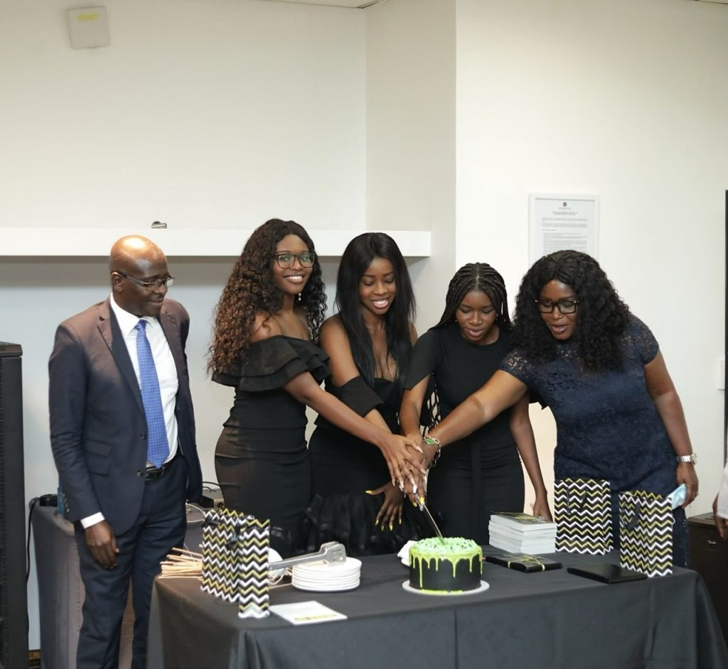 Ms. Adjei and her family at the book launch at Accra City Hotel