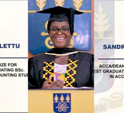 SANDRA LETTU SNAGS 4 ACADEMIC AWARDS FROM UG BUSINESS SCHOOL