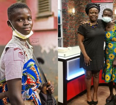 Rita Awuni, Orphan 17-year-old Girl With Baby Receives Assistance From Vice President