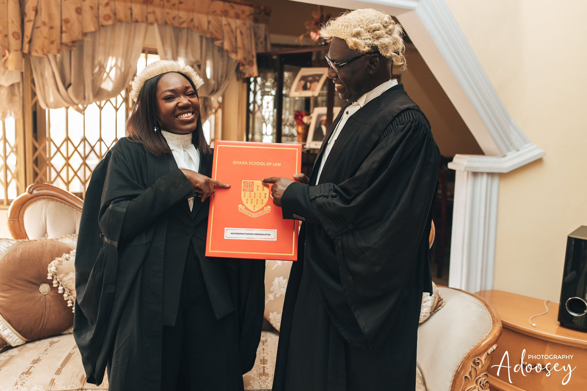 Meet Puumaya Nantogmah, Young Lady Called To The Bar on Her Father's 25th Anniversary As A Lawyer